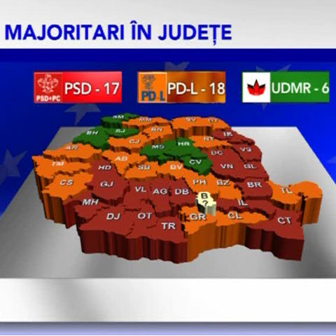 harta europarlamentare 2009